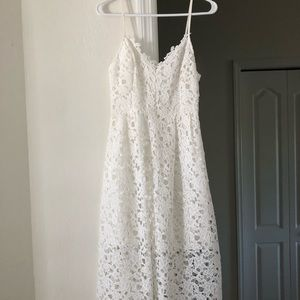 ASTR White Lace Dress, Medium.